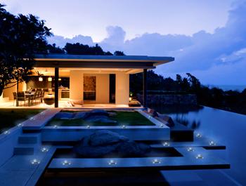 Villa con mattoni fotovoltaici