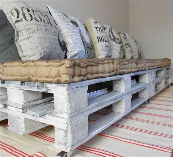 cuscini per i divani in pallet come fare